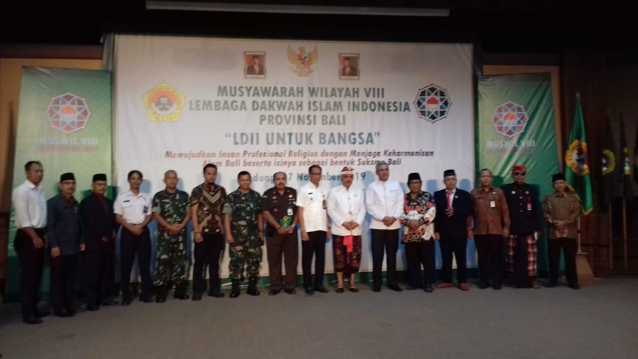 KEPALA BADAN KESBANGPOL Mewakili GUBERNUR BALI Menghadiri Muswil-VIII LDII Provinsi Bali