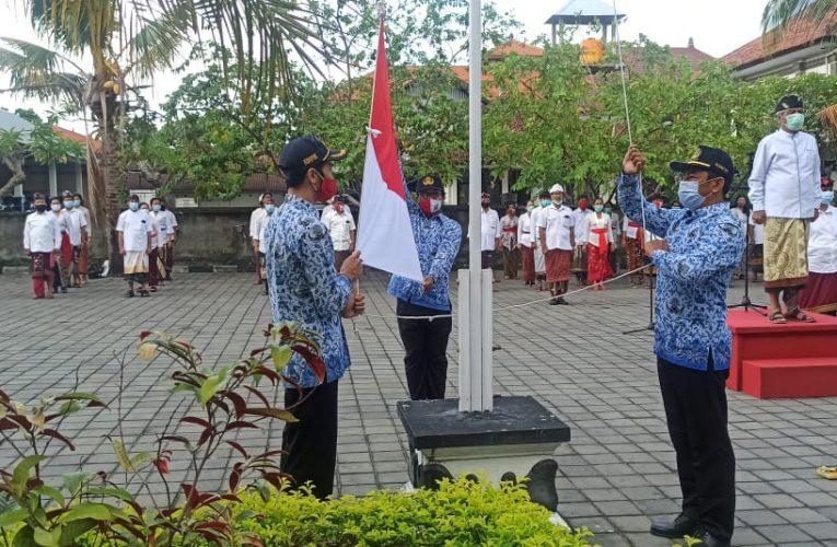 Pelaksanaan Upacara Hari Pahlawan Tahun 2020 di Badan Kesatuan Bangsa dan Politik Provinsi Bali